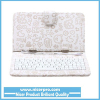 Best selling 7 inch universal tablet case leather cover tablet keyboard case shockproof tablet pc case White