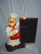 Restaurant decoration,restaurant furniture life size statues, Urban Trends Collection Resin Chef Statues