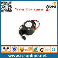"New 1-30L/min 1/2"" Hall Effect Flowmeter Control Water Flow Sensor DC 5-24V"