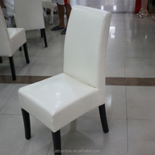 White leather wooden dining chair,fashion chair for dining