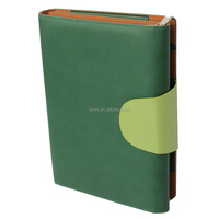 With Exterior Pocket and Space for iPad for Kindle or for Android Tablet Black Leather Padfolios