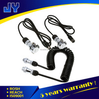 waterproof heavy duty truck trailer 7 pin extension cable with flexible metal plug