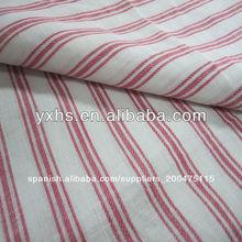 Rayas de tela lino 100% para camisas