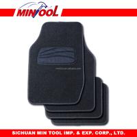 4pc deluxe carpet car mat set with vinyl heel pad
