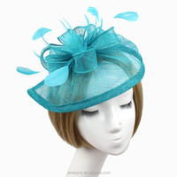 Wholesale Fashionable Hair Accessories Sinamay Fascinator With Feather
