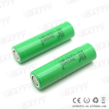 In stock green 25r 18650 battery 3.7v rc helicopter battery inr18650 25r