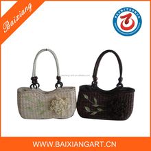 2015 Fashionable 100% handmad corn husk straw bags for promotion