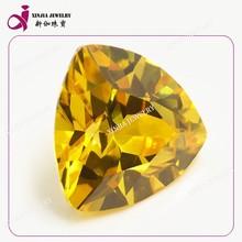 Trillion cut big cubic zirconia stone wax setting cz pendant jewelry