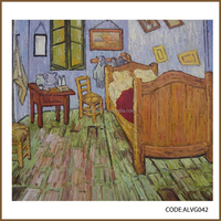 High quality hand painted famous canvas painting coppies after Van Gogh/The Bedroom at Arles, c. 1887.