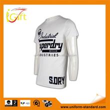 screen printing logo embroidery good quality big size logo t shirt