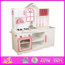 2015 Promotional kitchen toys for kids,intelligence kitchen toy set for children,hot sale wooden kitchen set for baby W10C062
