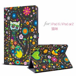 cute leather case for iPad Air 2 ,for ipad air 2 cover case with fashion pattern ,custom tablet case