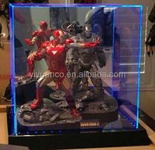 China manufacturer acrylic product portable led light display case led illuminated acrylic display case