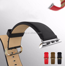 In Stock Genuine Leather Watch Strap Band for Apple Watch with Adapter