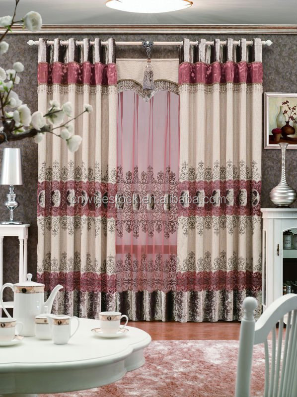 Different styles of curtains