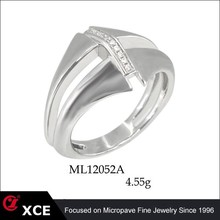 Hand Made Silver Jewelry Wholesale Silver Ring With CZ Stone