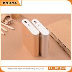 Factory OEM Exclusive Aluminum metal Portable 10400mAh Li-polymer Power Bank for Mobile Phone iPhone