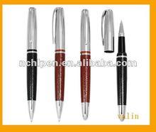 2012 Fancy metal leather ballpen for company item