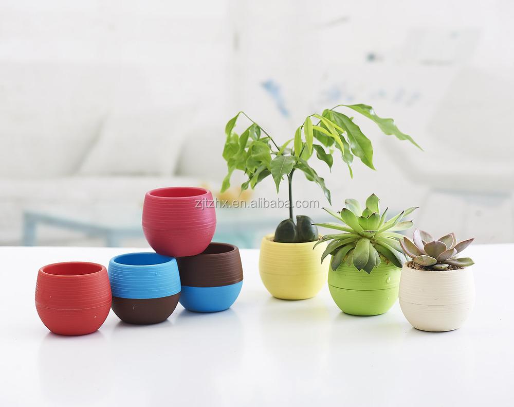 Mini Round Plastic Plant Flower Pot Home Office Decor Planter Buy
