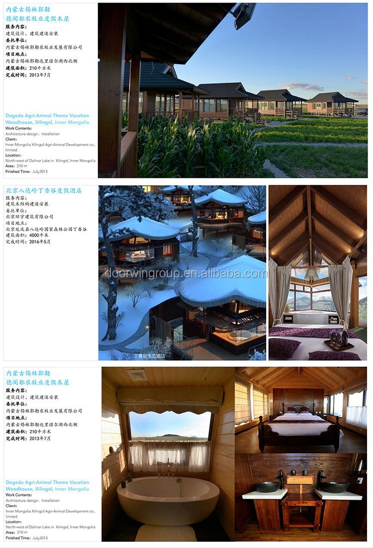 Waterdichte goedkope blokhutten prefab huis en luxe houten huis ...