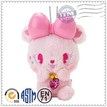 Cute style 2014 promotion gift plush toys key chains bling
