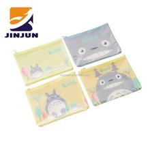 Adorable cartoon A4 A5 document bags PVC mesh storage bags