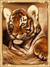 GX7272 new hot tiger photo oil painting by numbers for home decor