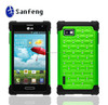 Slim fit cheap silicone mobile phone cover for LG optimus f3 diamond combo case