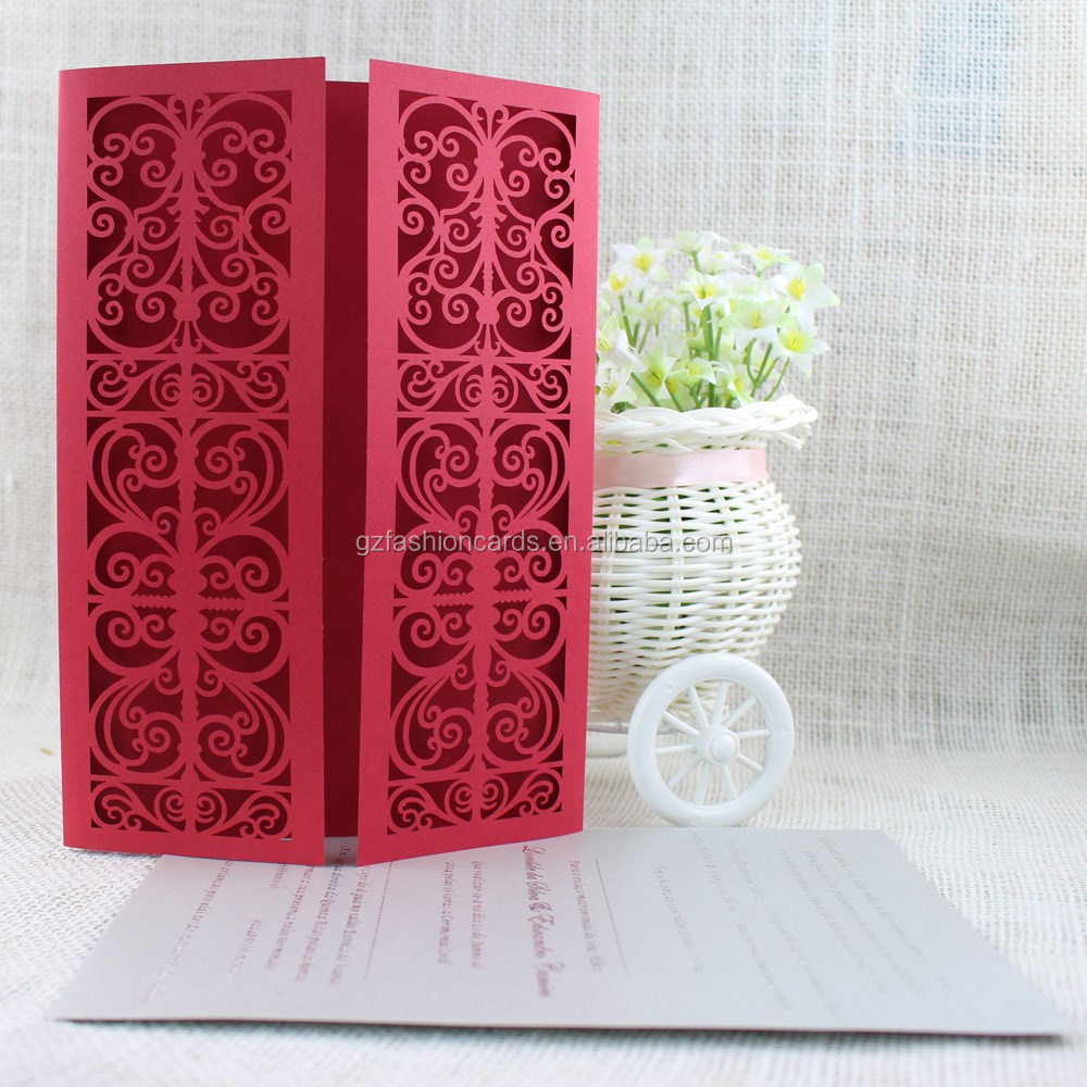 Affordable Blank Chinese Design Red Laser Cut Gate Wedding ...