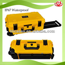 with handle made in improved PP Trolley Plastic Travel Case
