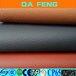 best quality pu footwear lining pvc saffiano leather for car seat