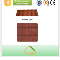High quality 1340X420mm anti-fade stone coated metal roof tile