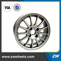 ZW-Z4031 2015 silver,gray,hyper silver,chrome,black,machine face car 3 spoke wheel