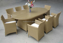 New design outdoor furniture wicker oval table AWRF5049