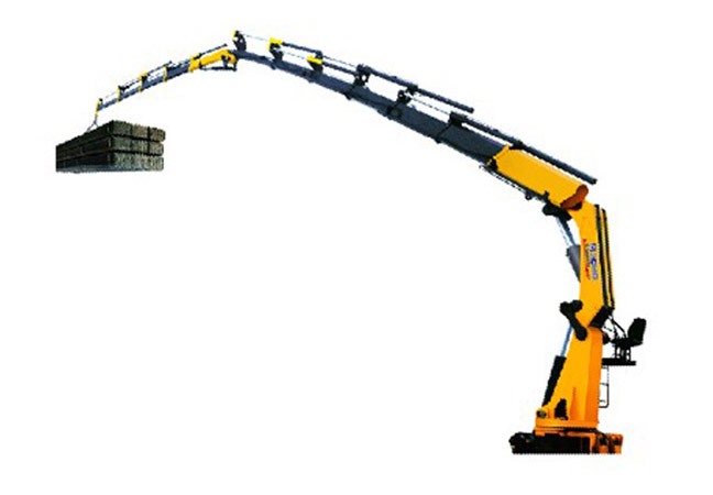 Accordion Articulated Arm : Best selling xcmg tons knuckle boom truck mounted crane