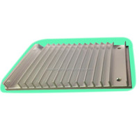 12W flat rectangle LED lighting heatsink aluminium alloy profile 12x8cm
