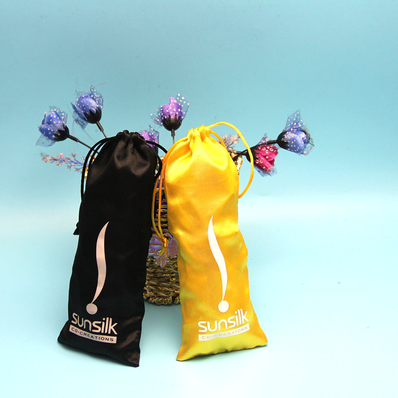 Hot Sale Umbrella Satin Drawstring Pouches for packaging