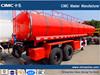 Steel 3 or 2 Axle Oil Tanker Trailer For Oil Transportation