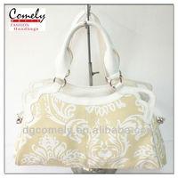 2015 purses Comely bag manufacturer girls pu lace tote hand bag woman handbag wholesale