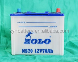 Super quality ZOLO brand dry charged battery