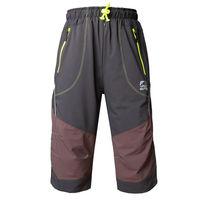 OUTTO #1408 Men's 3/4 capri hiking elastic waist mens pants casual M-3XL