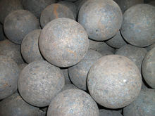 high quality 120mm forged steel ball with low price exported to Russia