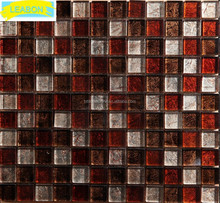 Japanese Golden select glass and stone mosaic wall tiles