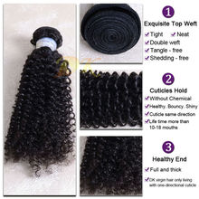 New arrival unprocessed virgin indian 3 piece 20 inch kinky curly hair weave
