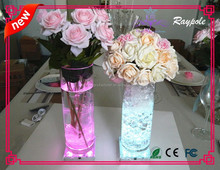 4 inch led multicolor wedding centerpieces table decoration wholesale led light base for event decoration