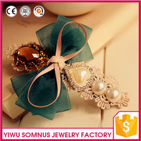 artificial flower hairgrips plastic hair clips with pearls fabric flowers faceted stones and barrettes Hair Jewel wholesale A027
