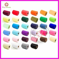 Wholesale good quality tutu tulle roll in 25 and100 yards tulle fabric