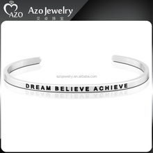Beautiful Stainless Steel Friendship Bracelets with Words