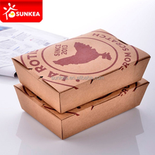 "Custom made cardboard lunch box 8"" x 11"" x 10"""