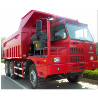 HOVA 60 Ton 6x4 Mining Heavy Duty Dump Truck for Transport , Red